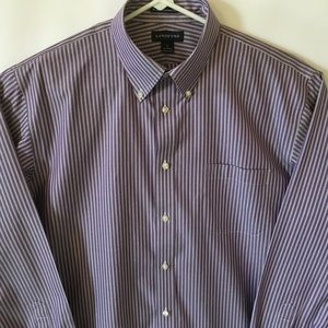 New Land's End No Iron Pinpoint Oxford Dress Shirt